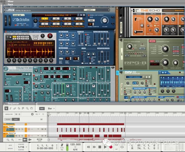 Reason virtual studio software