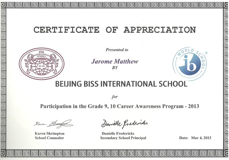 Pro Soul BISS instruction Certificate