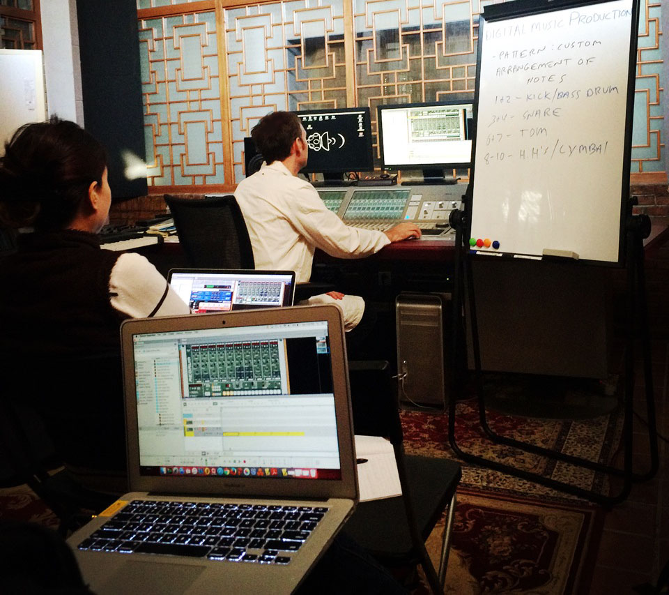 Pro Soul music production workshop in the studio, Beijing, China