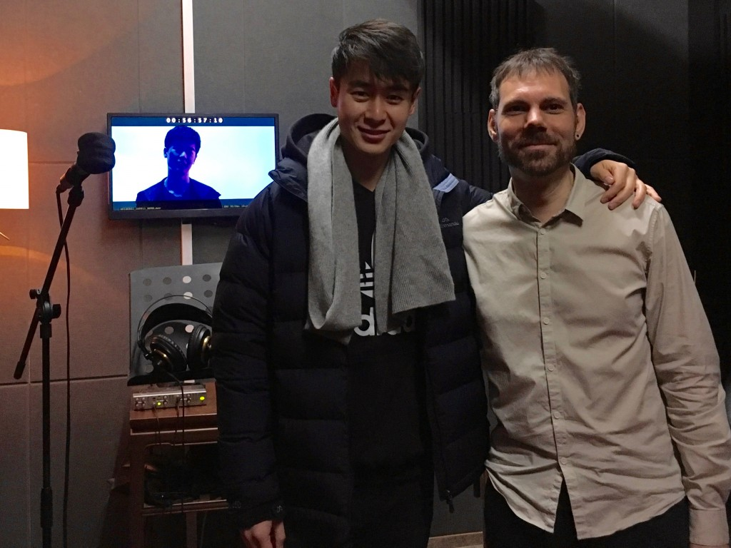 Sound designer Jarome Matthew with lead actor of 黑客风云